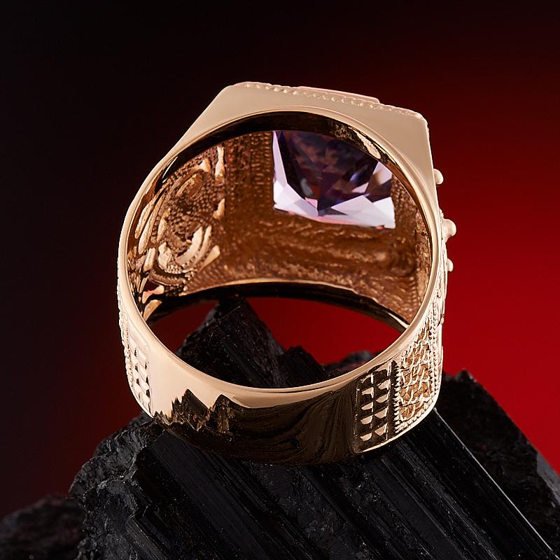 Кольцо аметист Бразилия огранка (золото 585 пр.) размер 23