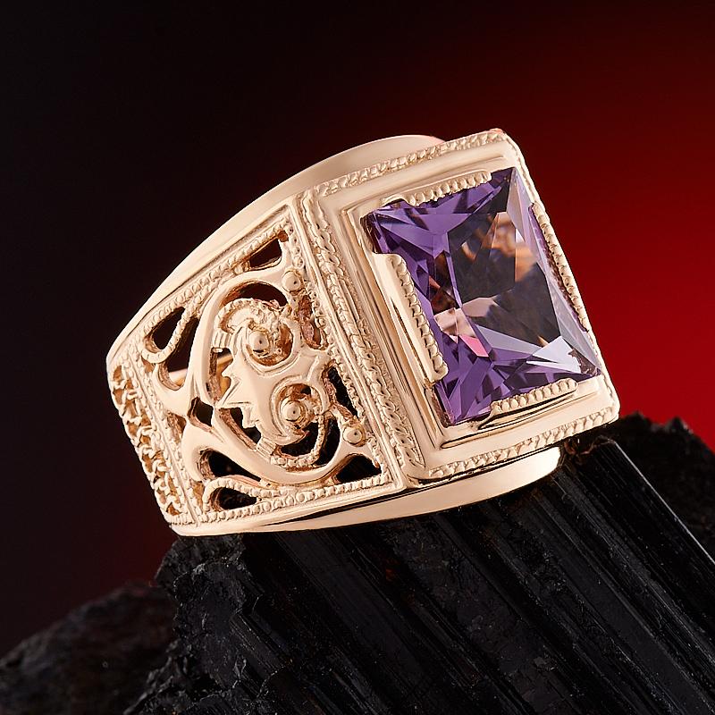 Кольцо аметист Бразилия огранка (золото 585 пр.) размер 25