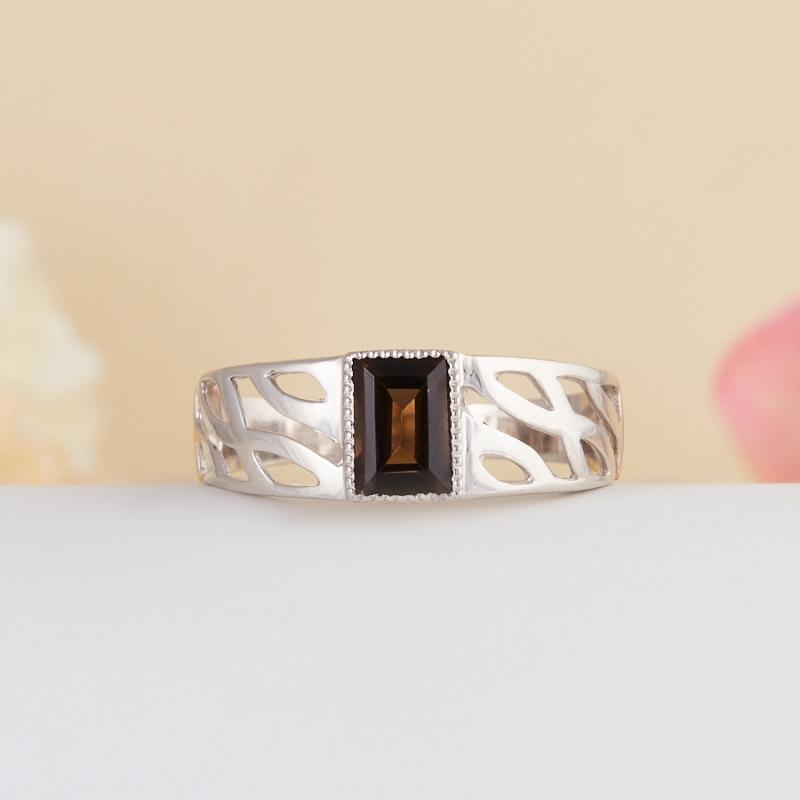 Кольцо раухтопаз  огранка (серебро 925 пр.) размер 18 кольцо авантюрин зеленый серебро 925 пр размер 18