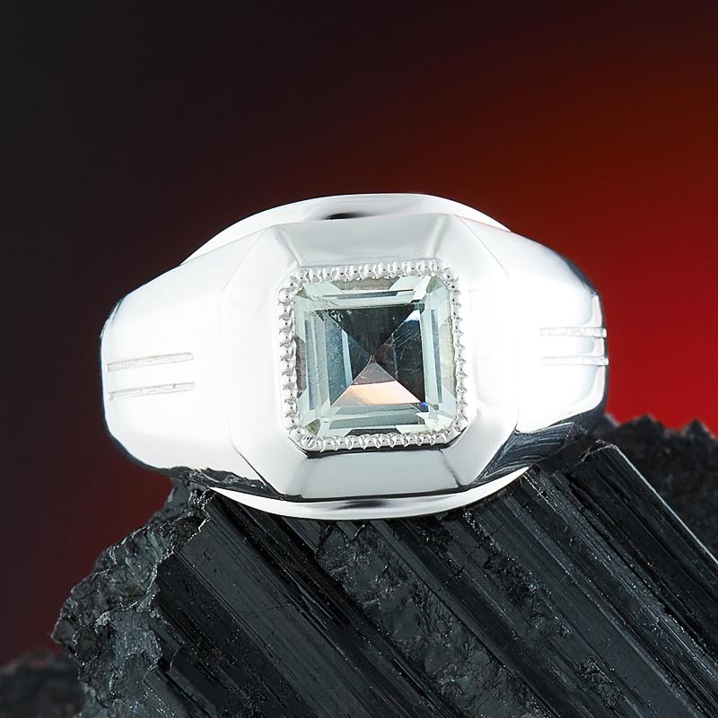Кольцо празиолит  огранка (серебро 925 пр.) размер 18