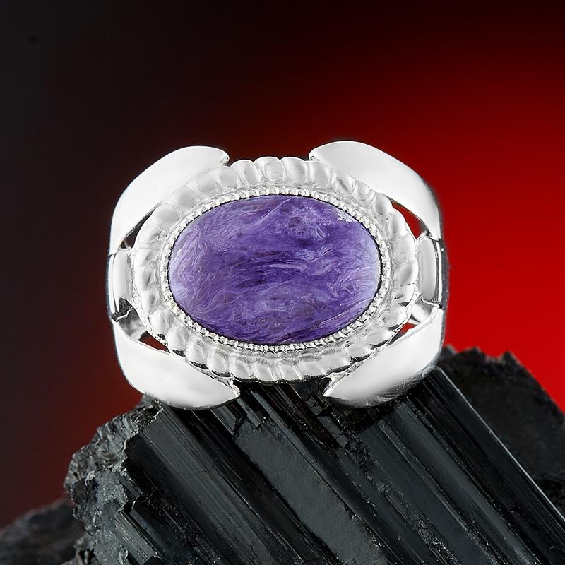Кольцо чароит  (серебро 925 пр.) размер 19 от Mineralmarket