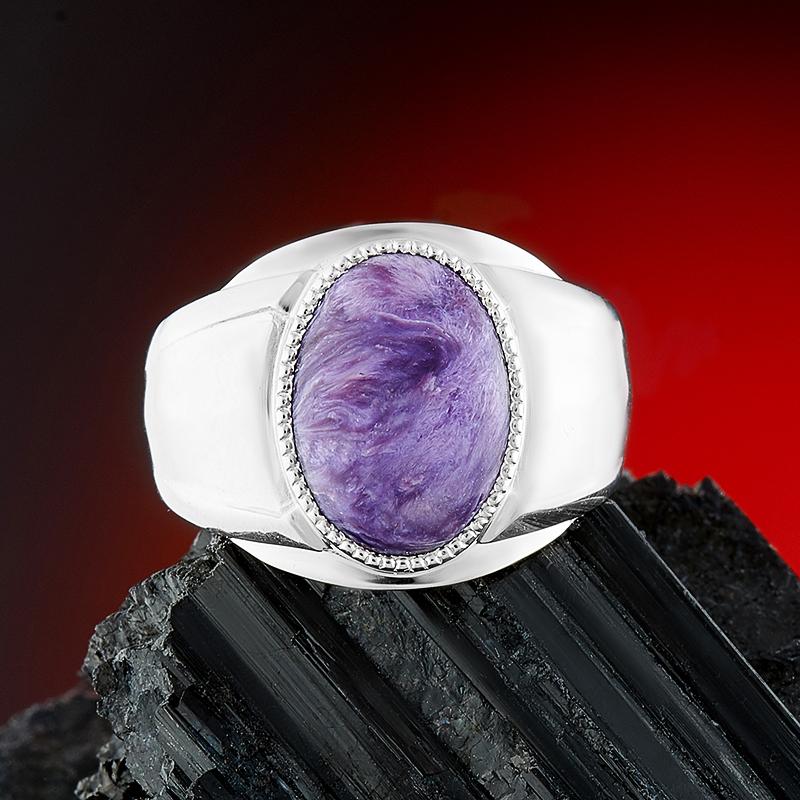 Кольцо чароит  (серебро 925 пр.) размер 19,5 от Mineralmarket