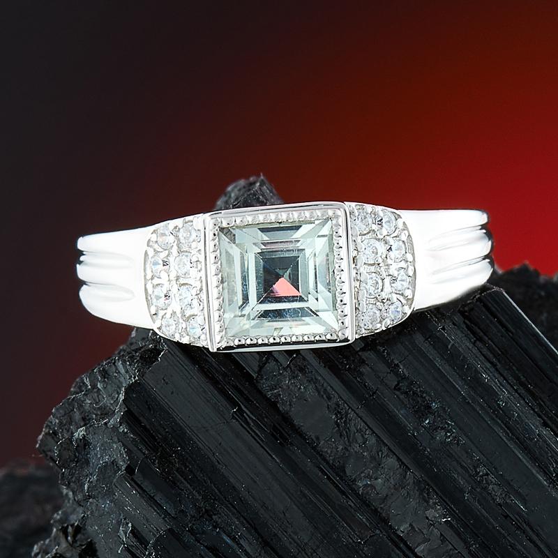 Кольцо празиолит огранка (серебро 925 пр.) размер 19,5 огранка празиолит овал 5 7 мм