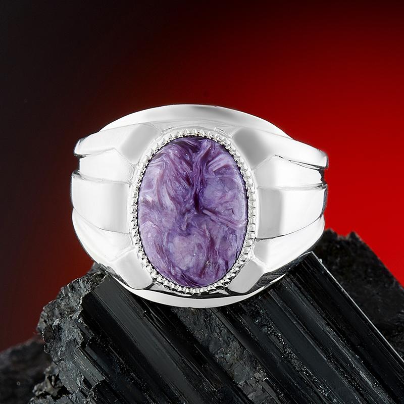 Кольцо чароит  (серебро 925 пр.) размер 20,5 от Mineralmarket