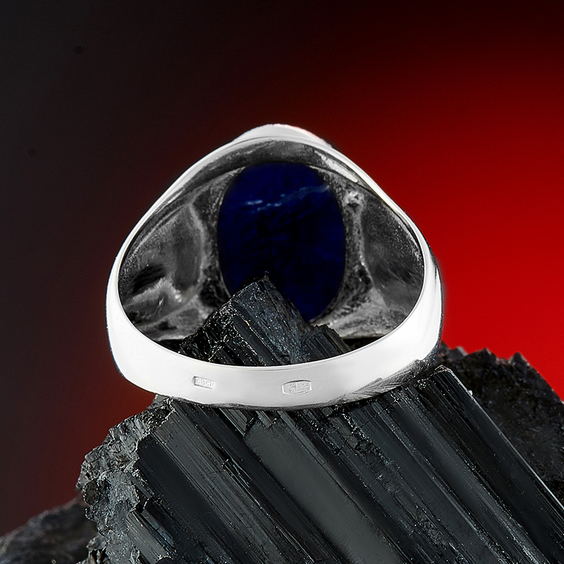 Кольцо содалит Бразилия (серебро 925 пр.) размер 14