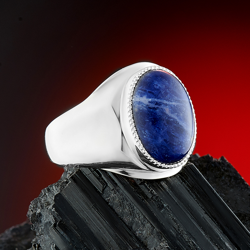 Кольцо содалит Бразилия (серебро 925 пр.) размер 21,5