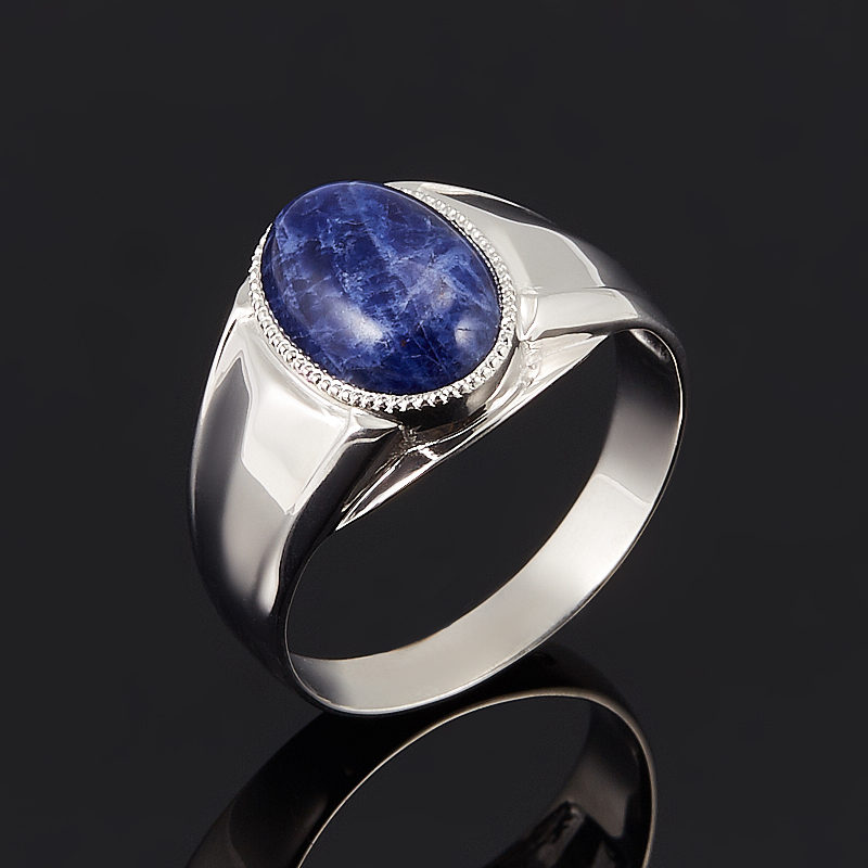 Кольцо содалит Бразилия (серебро 925 пр.) размер 15
