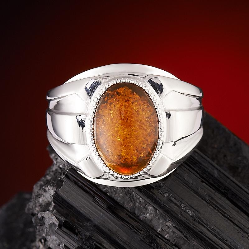 Кольцо янтарь (серебро 925 пр.) размер 21,5