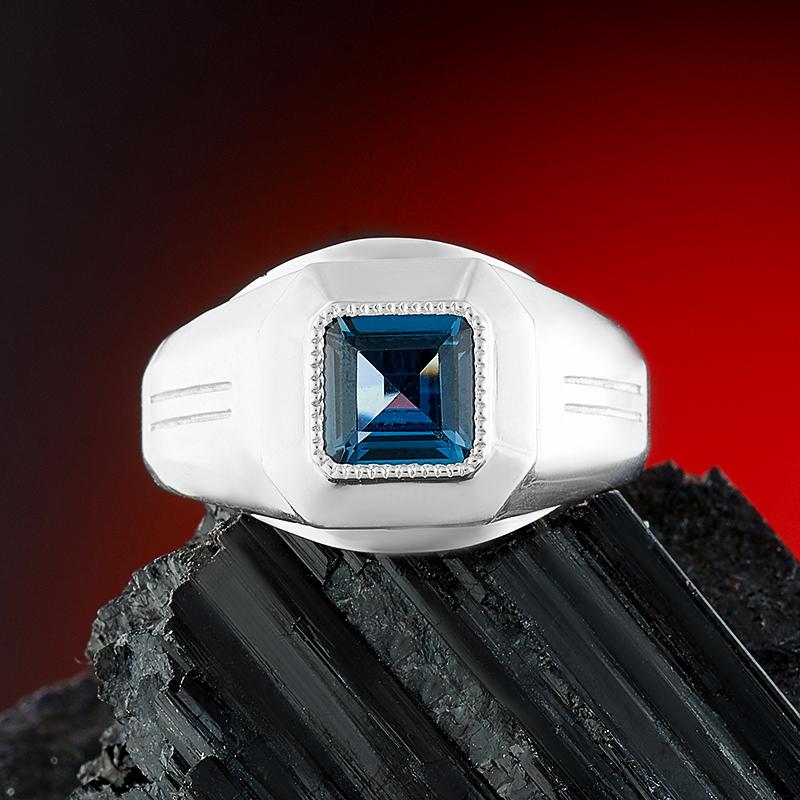 Кольцо топаз лондон огранка (серебро 925 пр.) размер 18,5 кольцо коюз топаз кольцо т147018035