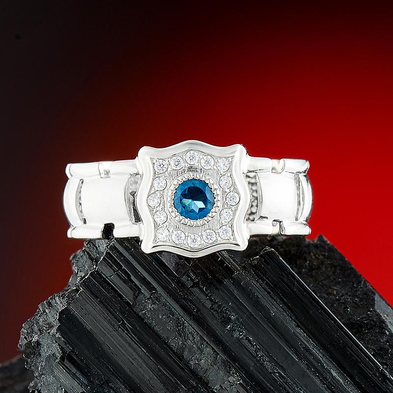 Кольцо топаз лондон  огранка (серебро 925 пр.) размер 18,5