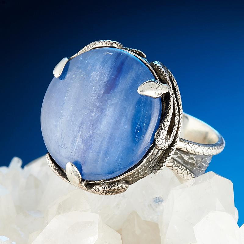 Кольцо кианит синий  (серебро 925 пр.) размер 19