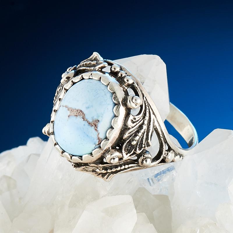 Кольцо бирюза Казахстан (серебро 925 пр.) размер 18,5