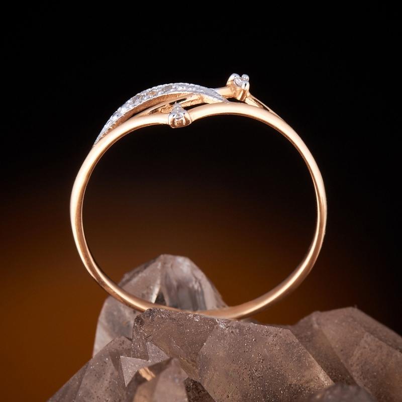 Кольцо бриллиант Россия огранка (золото 585 пр.) размер 22,5