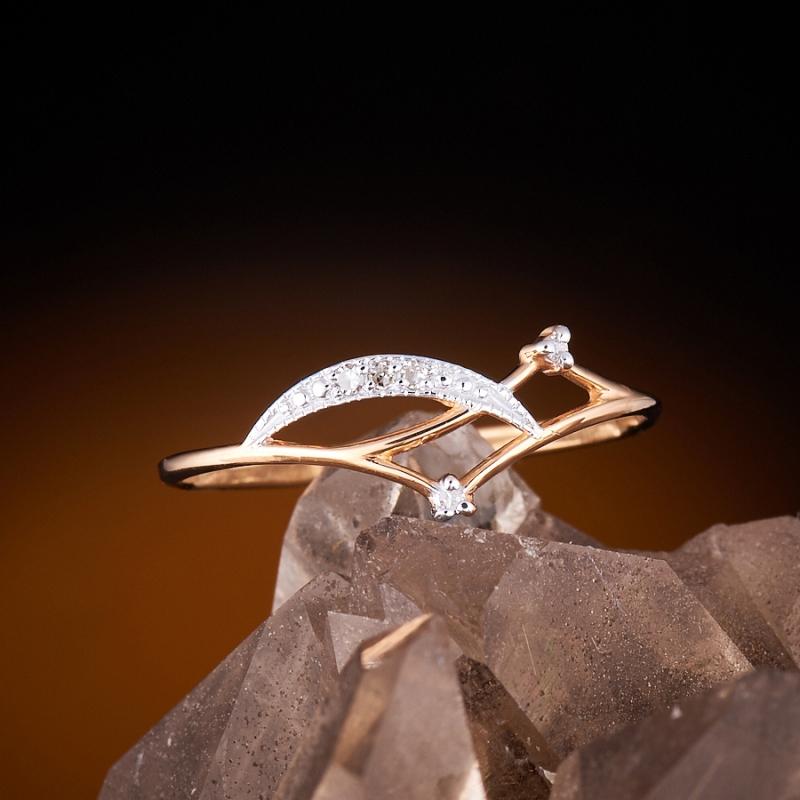 Кольцо бриллиант Россия огранка (золото 585 пр.) размер 23