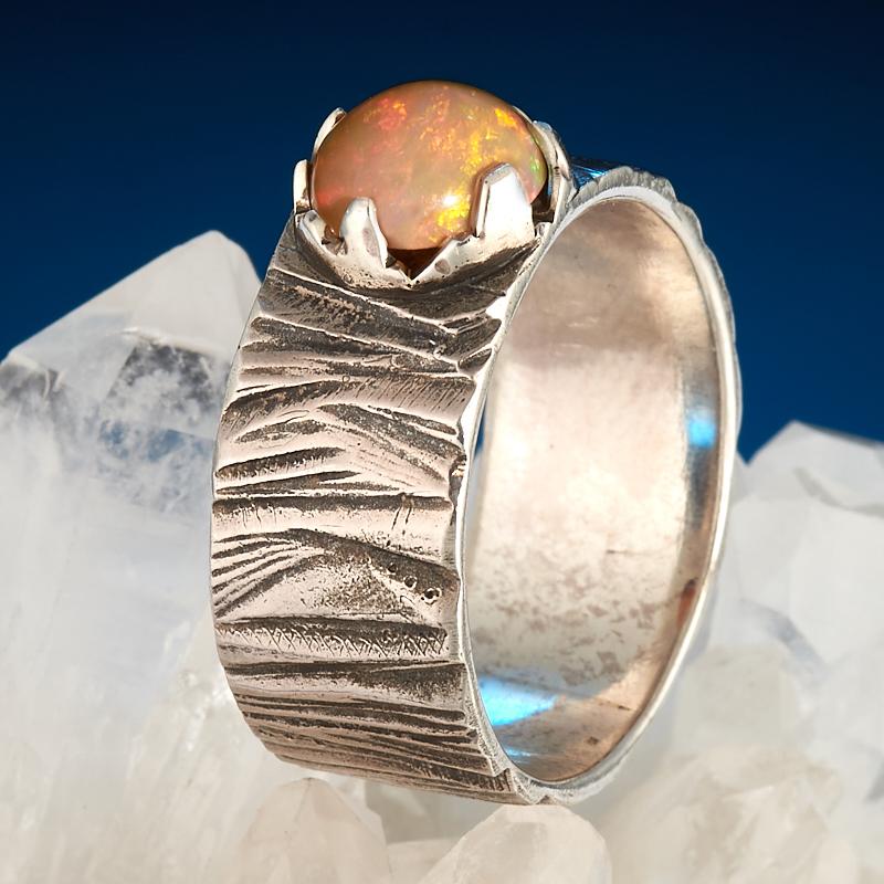 Кольцо опал благородный огненный  (серебро 925 пр.) размер 19,5