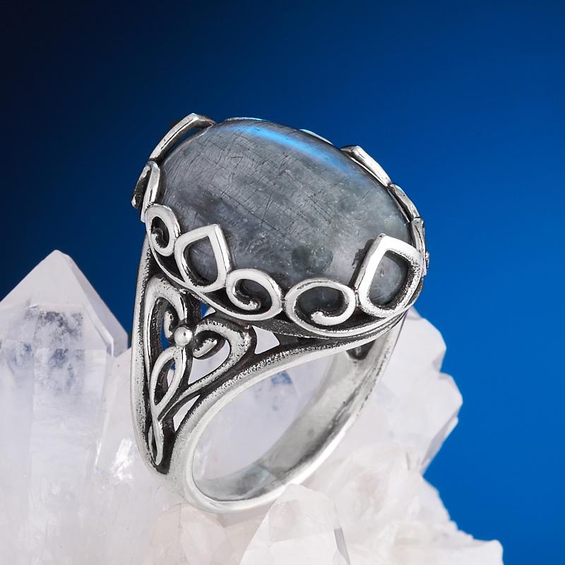Кольцо кошачий глаз (кварцевый)  (серебро 925 пр.) размер 18