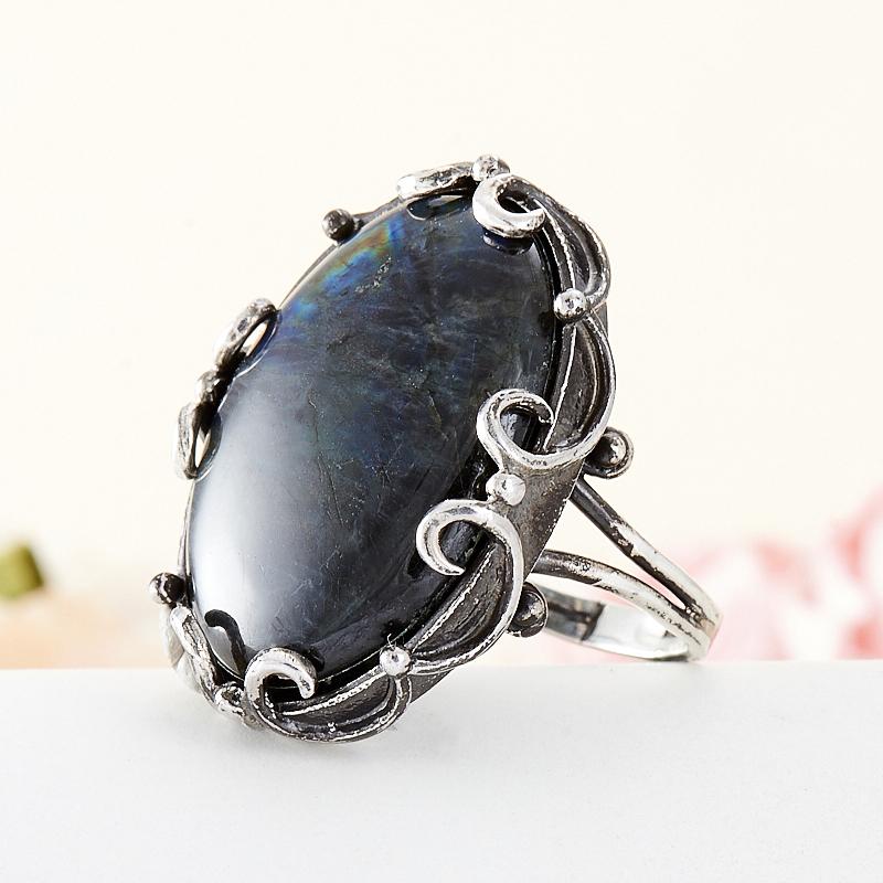 Кольцо лабрадор  (дублет) (серебро 925 пр.) размер 18