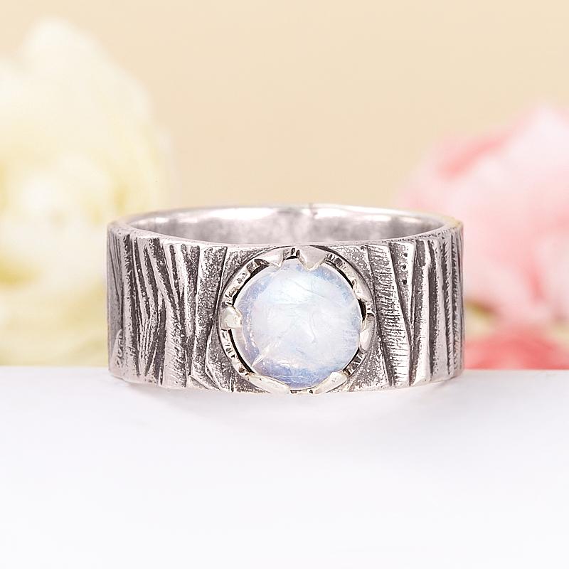 Кольцо лунный камень  (серебро 925 пр.) размер 20