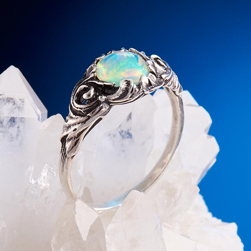 Кольцо опал благородный  (серебро 925 пр.) размер 18,5