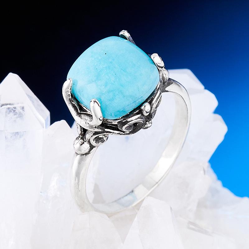 Кольцо амазонит  (серебро 925 пр.) размер 18