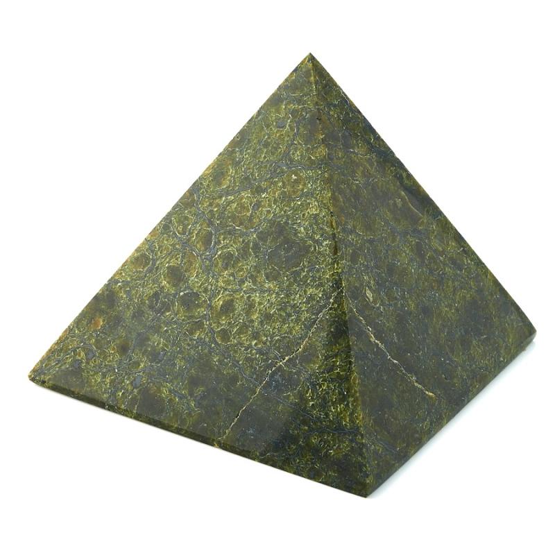 Пирамида змеевик 10 см