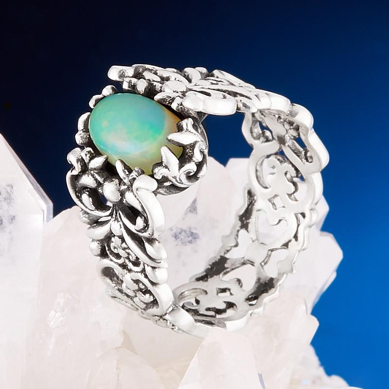Кольцо опал благородный  (серебро 925 пр.) размер 17