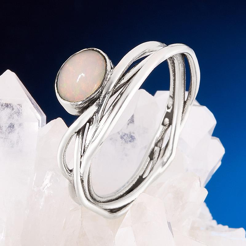 Кольцо опал благородный  (серебро 925 пр.) размер 19,5