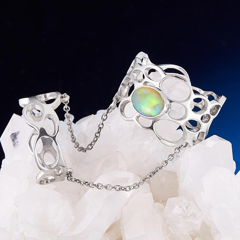 Кольцо опал благородный  (двойное) (серебро 925 пр.) размер 18