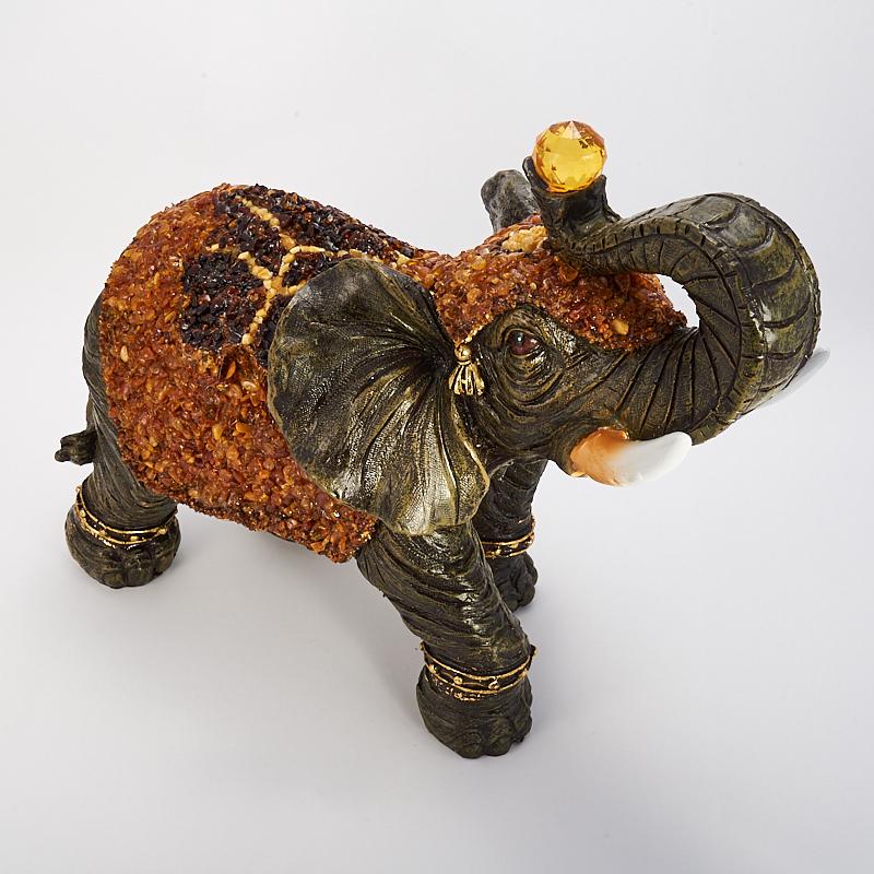 Слон янтарь  35х28х16 см
