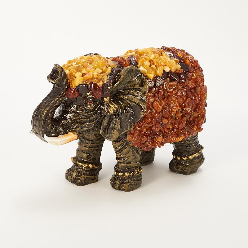 Слон янтарь  12х8х5 см