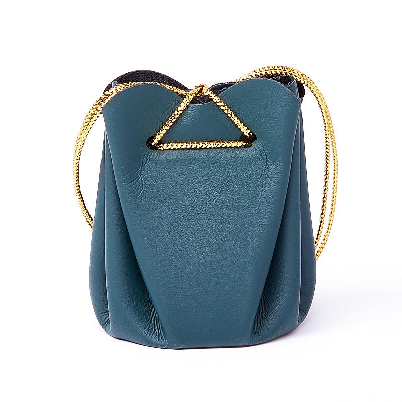Подарочная упаковка универсальная (мешочек объемный темно-зеленый) 40х40х60 мм