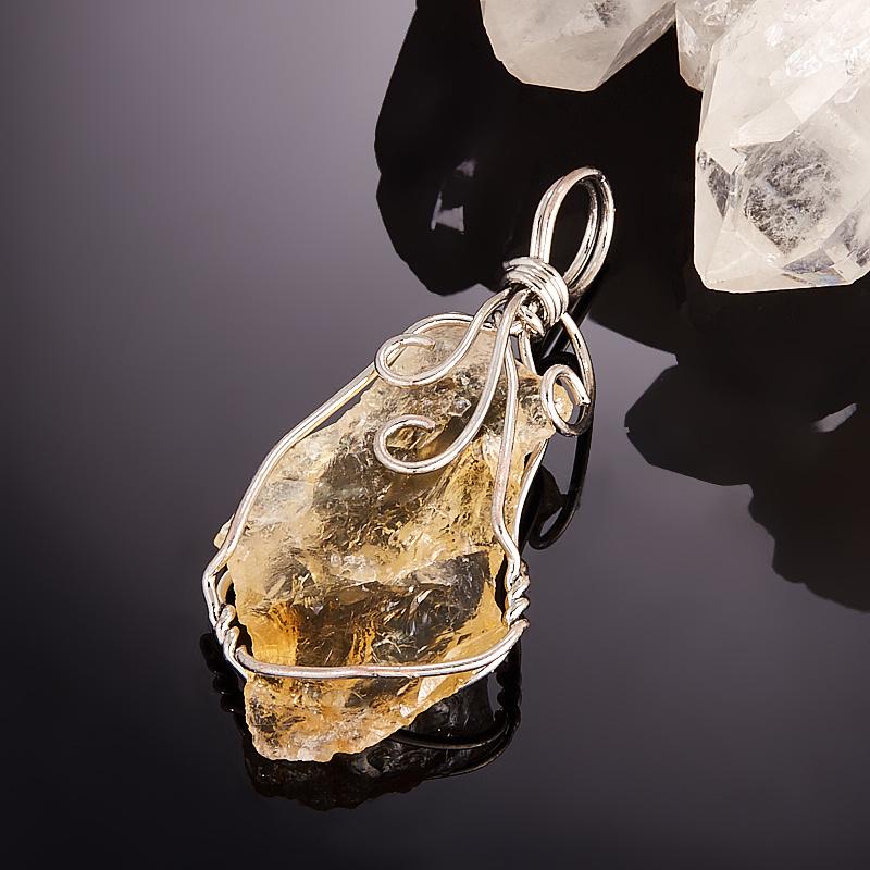 Кулон кристалл цитрин