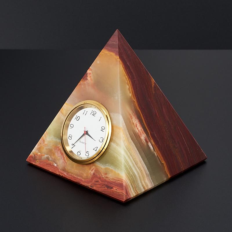 Часы пирамида оникс мраморный 7,5 см