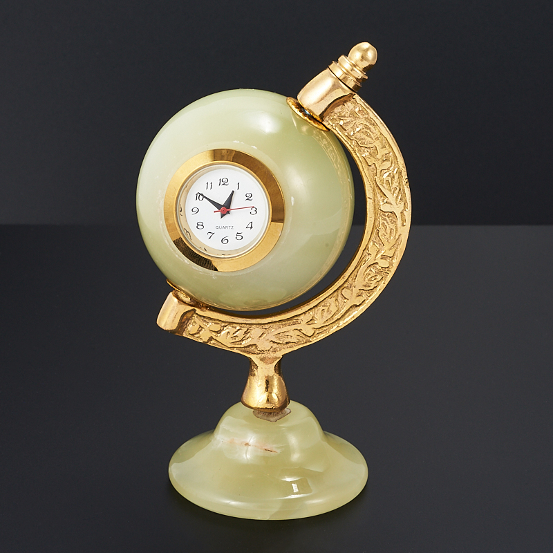 Часы глобус оникс мраморный 10,5 см часы пирамида оникс мраморный 10 см