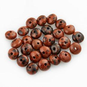 Бусина обсидиан коричневый Армения сплюснутый шар 6,5 мм (1 шт)
