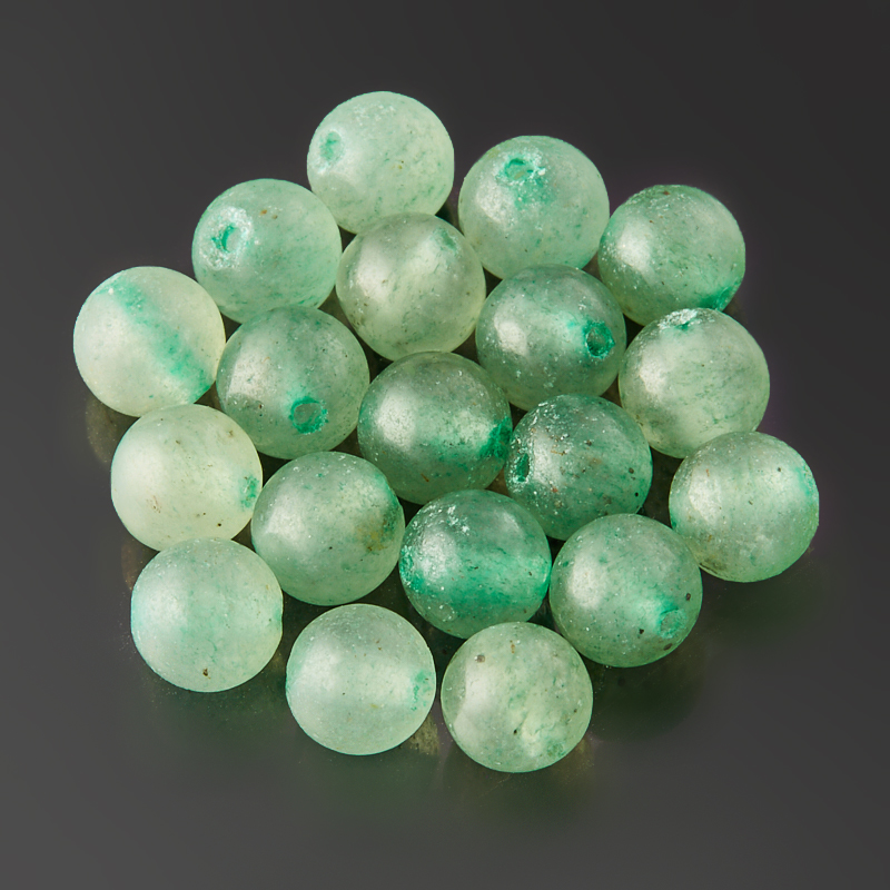 Бусина авантюрин зеленый шарик 4,5 мм (1 шт) массажер дельтатерм шарик ежик цвет зеленый диаметр 50 мм