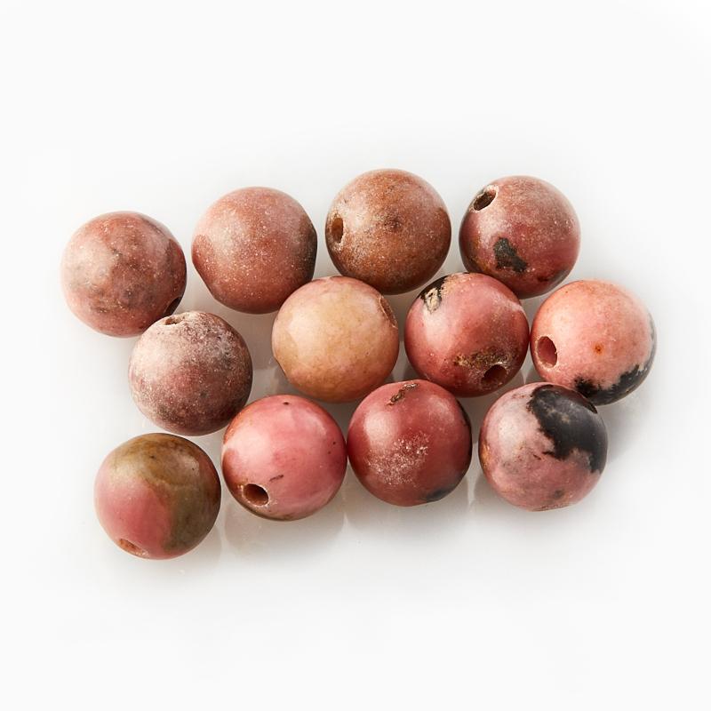 Подробнее о Бусина родонит розовый  шарик 6,5 мм (1 шт) бусина родонит черный шарик 4 5 мм 1 шт