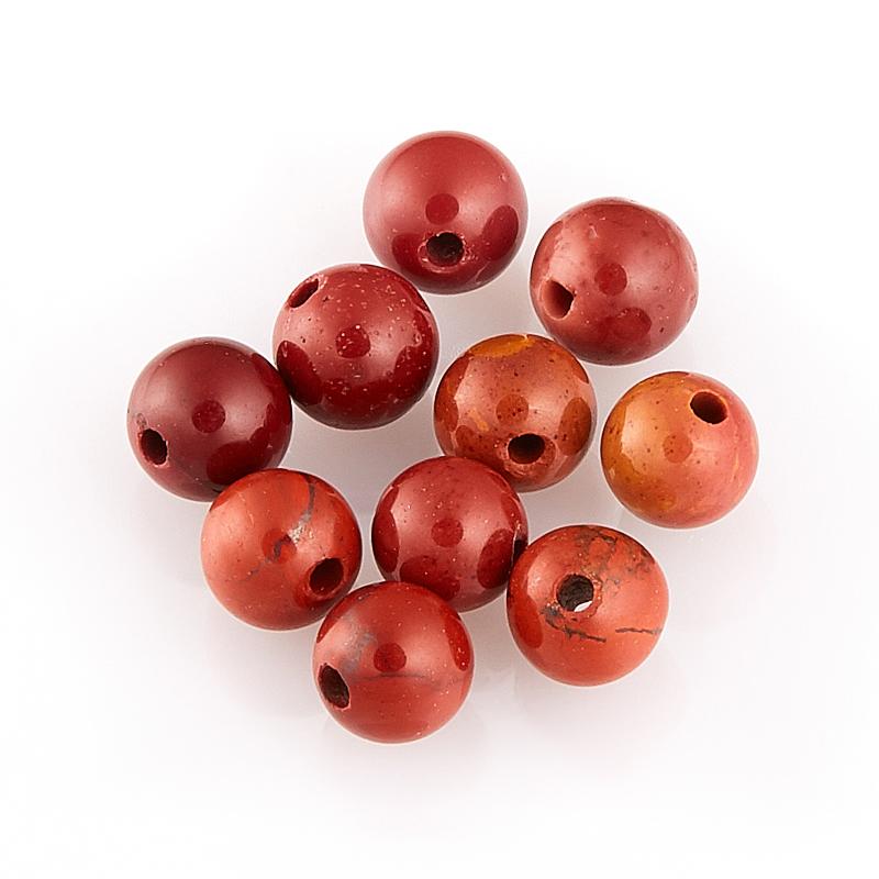 Бусина яшма брекчиевая  шарик 4,5 мм (1 шт)