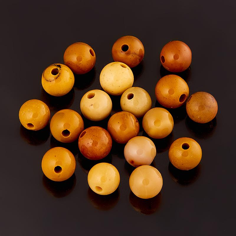 Бусина яшма мукаит желтый  шарик 4,5 мм (1 шт) бусина унакит шарик 4 4 5 мм 1 шт