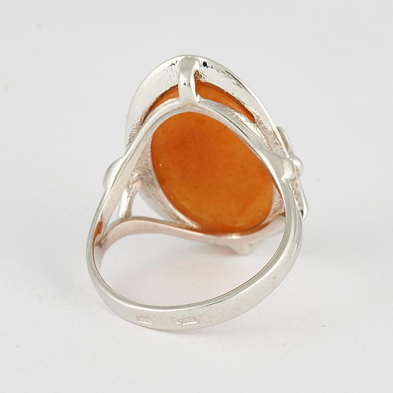 Кольцо солнечный камень Индия (серебро 925 пр.) размер 17,5