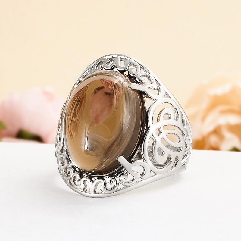 Кольцо раухтопаз  (серебро 925 пр.) размер 19