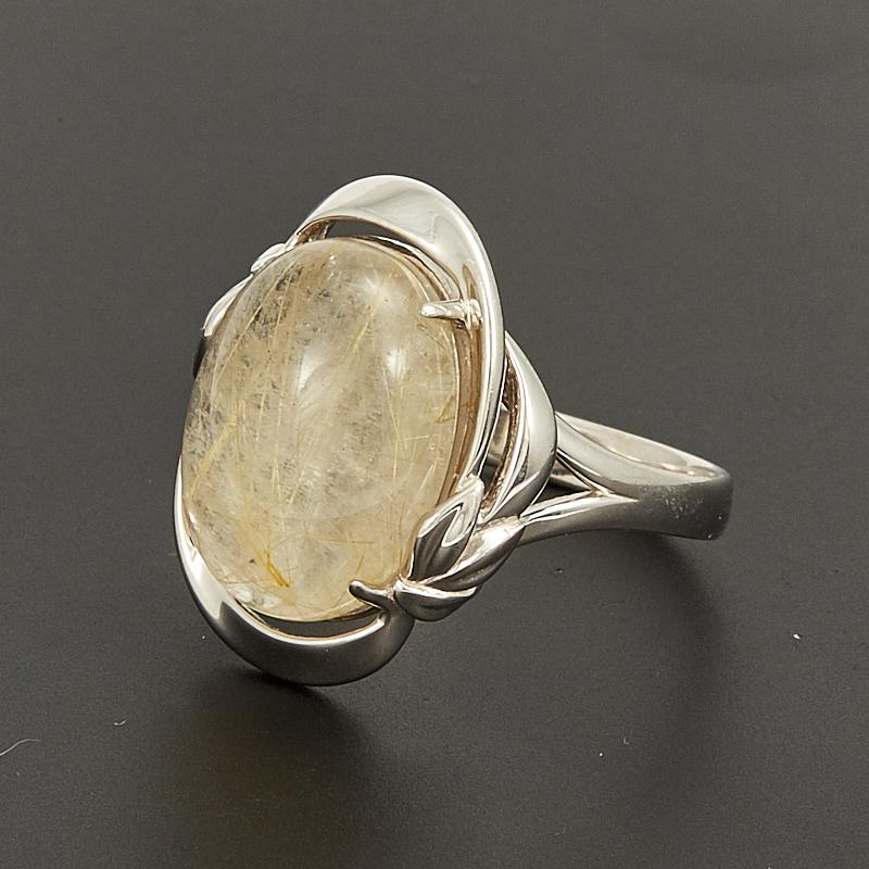 Кольцо рутиловый кварц  (серебро 925 пр.) размер 19