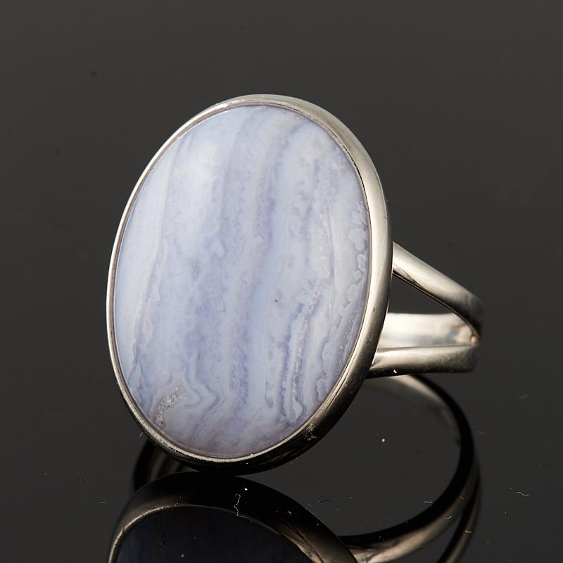 Кольцо агат голубой  (серебро 925 пр.) размер 17,5