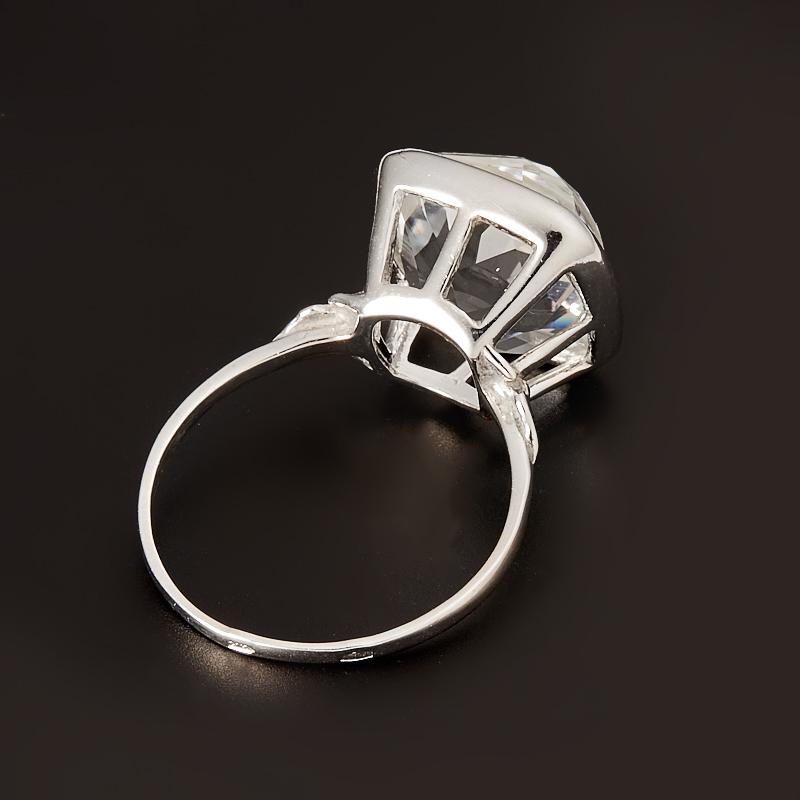 Кольцо горный хрусталь  огранка (серебро 925 пр.) размер 20,5