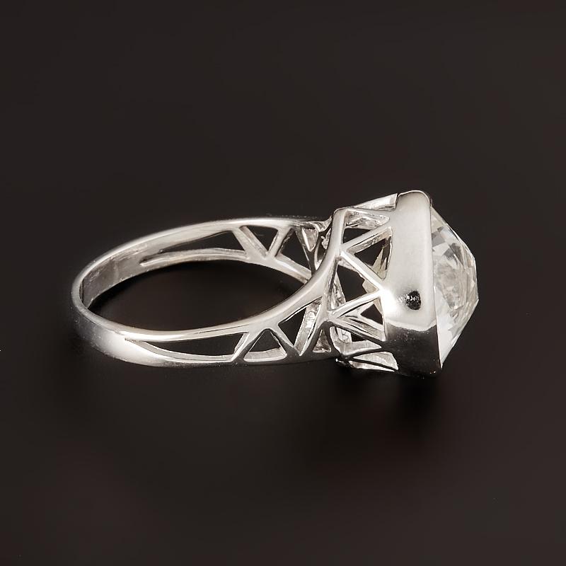 Кольцо горный хрусталь  огранка (серебро 925 пр.) размер 19