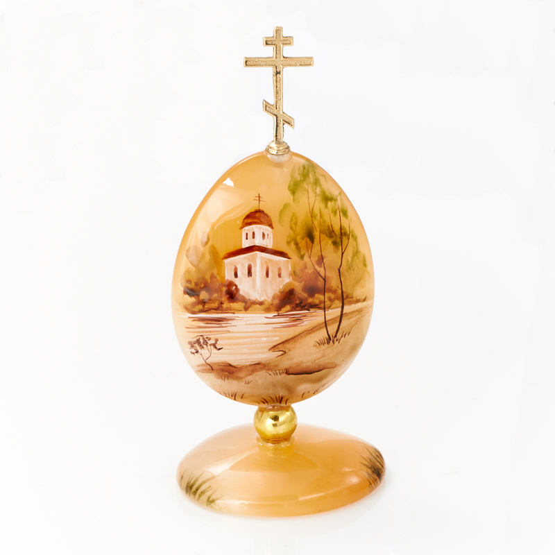Яйцо пасхальное плоское селенит  11 см