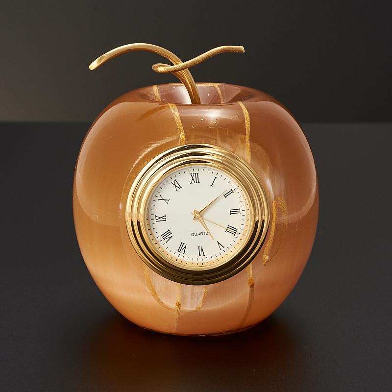 Часы яблоко селенит  8,5 см от Mineralmarket
