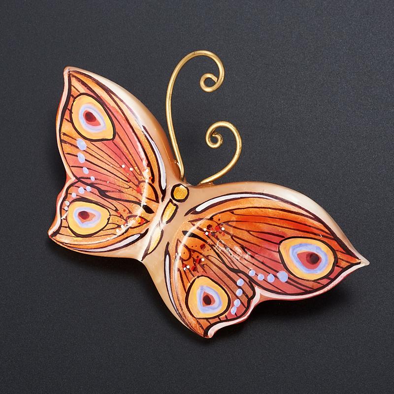 Брошь бабочка селенит