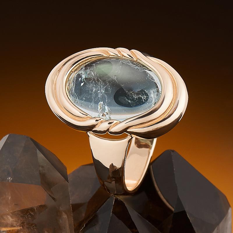 Кольцо аквамарин  (золото 585 пр.) размер 17