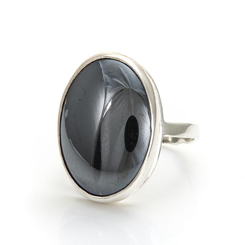 Кольцо гематит Бразилия (серебро 925 пр.) размер 23